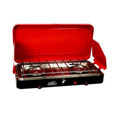 Texsport Dual Burner Super High Output Piezo Igniter Propane Stove