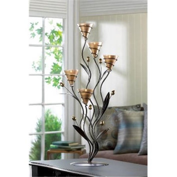 Zingz & Thingz 57071163 Large Golden Dawn Lily Candle Stand