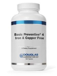 Douglas Laboratories Basic Preventive 4 Iron & Copper Free (Replaces 745287010044) Douglas Laboratori