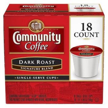 Community Coffee Company Community Coffee Dark Roast Single Serve 18 Ct
