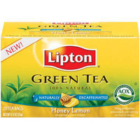 Lipton Decaffeinated Honey & Lemon Green Tea Bags 20-ct.