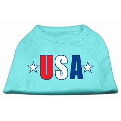 Ahi USA Star Screen Print Shirt Aqua XXL (18)