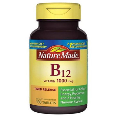 Pharmavite Llc Nature Made Vitamin B-12 Dietary Supplement Timed Release Tablets, 1000mcg, 190 count