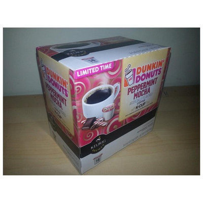 Keurig Dunkin Donuts Peppermint Mocha 28 K cups - Next day USPS Priority Shipping !