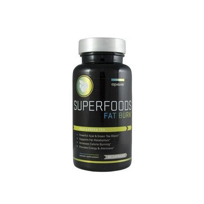 Apex Fitness Apex SUPERFOODS Fat Burn, With Green Tea and Acai Berry, 60 Capsule Bottle