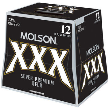 Molson XXX Super Premium Beer, 12 fl oz, 12-Pack