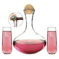 Cathy's Concepts Personalized Wedding Wine Unity Ceremony Set with Letter K