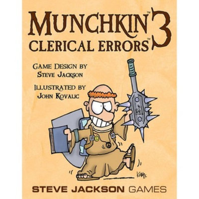 Munchkin MUNCHKIN 3 Clerical Errors Steve Jackson Adventure Themed Game