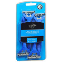 Studio 35 Speed 3-Blade Disposable Razor, 4 ea