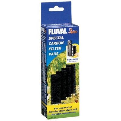 Hagen Fluval 3 Plus Carbon Pads, 4-Pack
