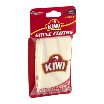 Kiwi Shine Cloths Leather Shoes - 2 CT