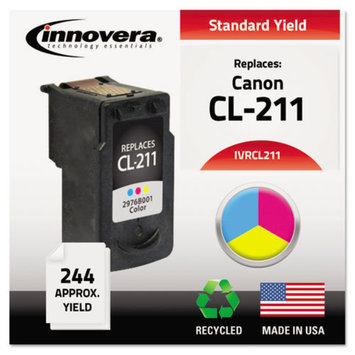 INNOVERA Innovera IVRCL211 Innovera Remanufactured 2976B001 (CL-211) Ink, 244 Page-Yield, Tri-Color