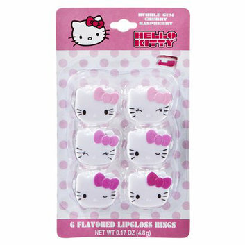 Hello Kitty Pink Lip Gloss Rings - 6 Pack