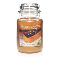 Yankee Candle 3.7oz Small Jar Candle, Salted Caramel [Small Jar Candle]