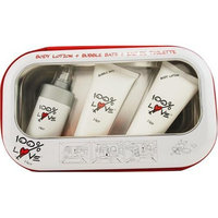 100% Love By Vapro International For Women. Set-edt Spray 2.5-Ounce & Body Lotion 3.4-Ounce & Bubble Bath 3.4-Ounce