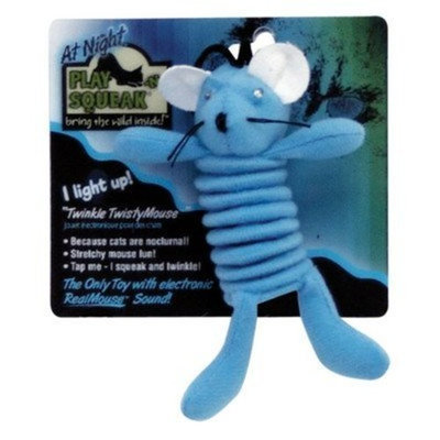 Our Pet's Play-N-Squeak at Night Cat Toy Color: Twisty Mouse