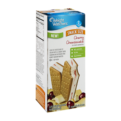 Weight Watchers Cherry Cheesecake Snack Size Ice Cream Sandwiches - 8 CT