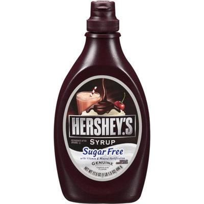 Hershey's Sugar Free Chocolate Syrup Bottle, 17.5 oz
