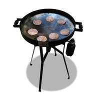 Firedisc Grills FireDisc TCGFDM22HRB Mini 22 In. HR Grill With Heat Ring Black