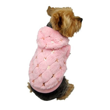 Eforcity Insten Pink Pet Puppy Dog Hoodie with Sequins