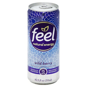 Feel Natural Energy Natural Flavored Energy Drink Wild Berry 10.5 fl oz