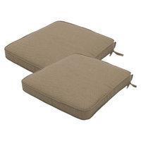Smith & Hawken 2-Piece Outdoor Round Back Seat Cushion Set - Sand