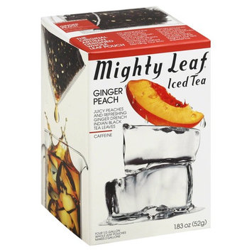 Mighty Leaf Iced Tea, Ginger Peach, Pouches - 1.83 oz