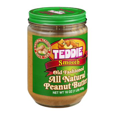 Teddie Old Fashioned Peanut Butter All Natural Smooth