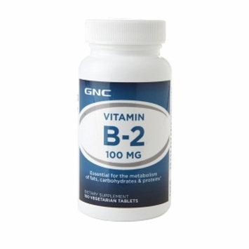 GNC Vitamin B-2 100mg, Vegetarian Tablets, 100 ea