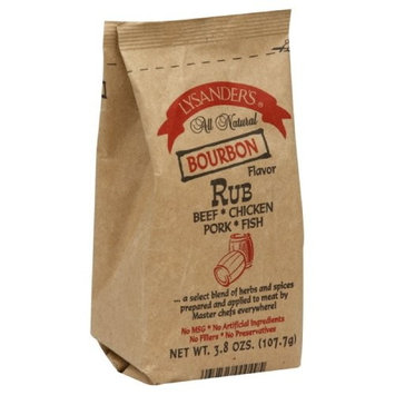 Lysander's Rub, Bourbon Flavor, 3.8-Ounce (Pack of 6)