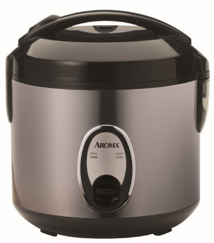 Aroma Electronic 4-Cup Dry Rice Cooker in Silver
