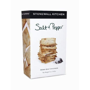 Stonewall Kitchen Salt and Pepper Crackers, 5-Ounce Boxes (Pack of 3)