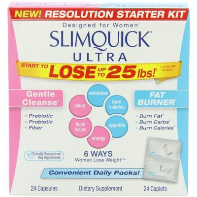 Slimquick Ultra Dietary Supplement, Resolution Starter Kit, 24 Caplets