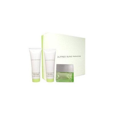 Paradise by Alfred Sung for Women 3 Piece Set Includes: 1.7 oz Eau de Parfum Spray + 2.5 oz Luxurious Shower Gel + 2.5 oz Luxurious Body Lotion