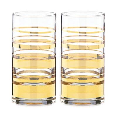 Kate Spade kate spade new york Hampton Street Set of 2 Highball Glasses