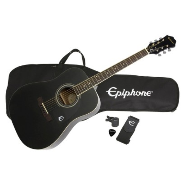Epiphone Guitar Corp. Epiphone DR100 Acoustic Guitar Package-Ebony