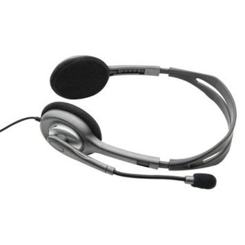 Logitech Stereo 110 Over-the-Head Headset (981-000317) - Black/Silver