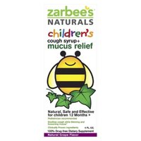 Zarbee's Naturals Children's Grape Cough Syrup + Mucus Relief - 4 oz