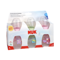 NUK 0+ Months Slow Flow Orthodontic Silicone 5 oz Bottles - 3 CT