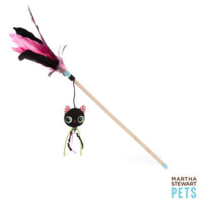 Martha Stewart PetsA Black Cat Feather Wand