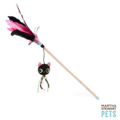 Martha Stewart PetsA Black Cat Feather Wand