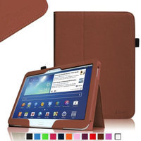 Fintie Folio Slim Leather Case for Samsung Galaxy Tab 3 10.1 inch Tablet with Stylus Loop, Brown
