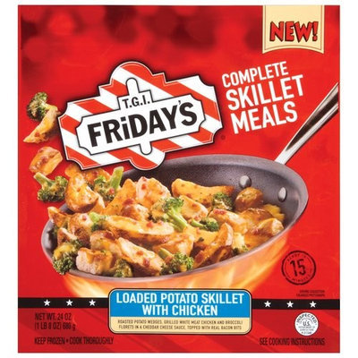 TGI Fridays T.G.I. Fridayâs Loaded Potato Skillet W/Chicken Complete Skillet Meals, 24 oz