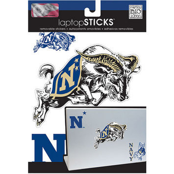 NCAA Removable Laptop Sticker, United States Naval Academy Navy Midshipmen