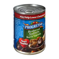 Progresso Reduced Sodium Beef & Vegetable Soup