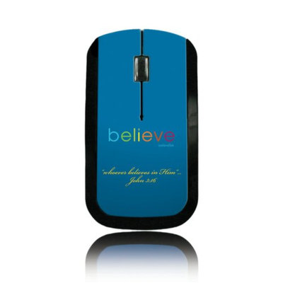 Believetek Believe Blue Background Wireless Mouse