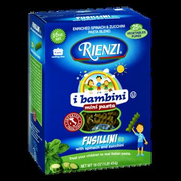 Rienzi Fusillini with Spinach and Zucchini Mini Pasta