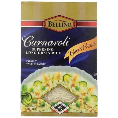 Bellino Carnaroli Superfino Long Grain Rice, 16 Ounce Boxes (Pack of 12)