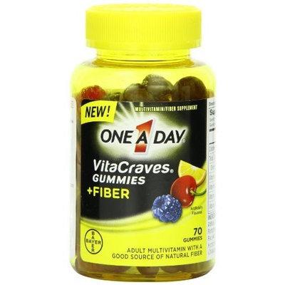 One a Day Vitacraves Gummies Plus Fiber, 70 Count
