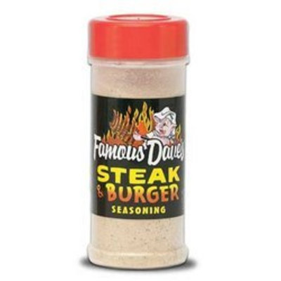 Famous Dave's Seasoning Steak & Burger, 8.25-Ounce (Pack of 12)